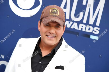 US music artist Rodney Atkins arrives for the 54th Annual Academy of Country Music Awards at the MGM Grand Garden Arena in Las Vegas, Nevada, USA, 07 April 2019.