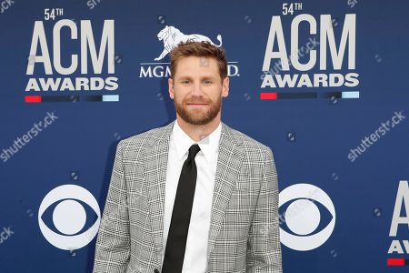 Chase Rice arrives for the 54th Annual Academy of Country Music Awards at the MGM Grand Garden Arena in Las Vegas, Nevada, USA, 07 April 2019.