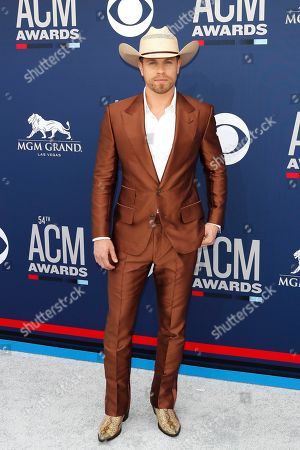 Dustin Lynch arrives for the 54th Annual Academy of Country Music Awards at the MGM Grand Garden Arena in Las Vegas, Nevada, USA, 07 April 2019.