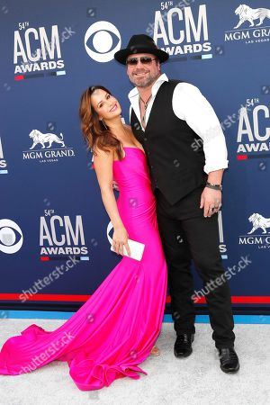 Stock Image of Lee Brice and his wife Sara Reeveley arrive for the 54th Annual Academy of Country Music Awards at the MGM Grand Garden Arena in Las Vegas, Nevada, USA, 07 April 2019.