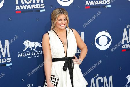 Lauren Alaina arrives for the 54th Annual Academy of Country Music Awards at the MGM Grand Garden Arena in Las Vegas, Nevada, USA, 07 April 2019.