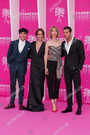 Spanish actors Oscar Casas, Silvia Alonso, Ingrid Garcia Jonsson and Mario Casas