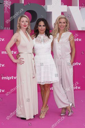 Swedish actresses Julia Dufvenius, Alexandra Rapaport and Eva Rose
