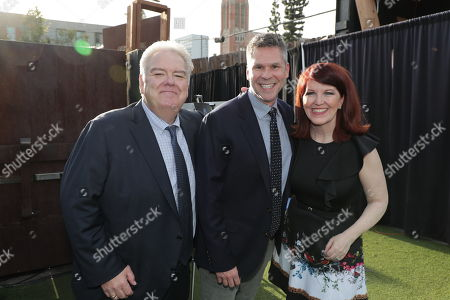 Jim O'Heir, John Henson and Kate Flannery
