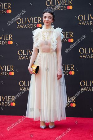 Patsy Ferran arrives for the Olivier Awards at the Royal Albert Hall in London, Britain, 07 April 2019 (issued 08 April 2019). The Olivier Awards are awarded for outstanding achievements in British theatre.