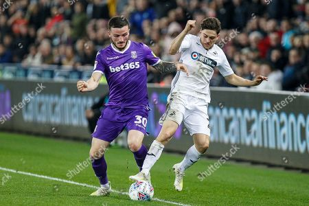 Editorial picture of Swansea City v Stoke City, Sky Bet Championship, Football, Liberty Stadium, Swansea, Wales, UK - 09 Apr 2019