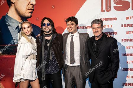 Stock Photo of Clizia Incorvaia, Francesco Sarcina, Riccardo Scamarcio and the director Renato De Maria