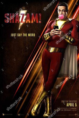 Shazam! (2019) Poster Art. Zachary Levi as Shazam