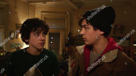 Asher Angel as Billy Batson and Jack Dylan Grazer as Freddy Freeman