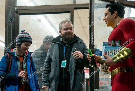 Asher Angel as Billy Batson, David Sandberg Director and Zachary Levi as Shazam