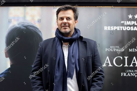 Francois Ozon arrives at the press presentation of his film 'Grace a Dieu' (Thanks to God) in Madrid, Spain, 08 April 2019. The film is based on the true life of sexual abuses victims with French Father Preynat being involved in the scandal.