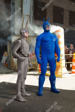 Griffin Newman as Arthur Everest and Peter Serafinowicz as The Tick