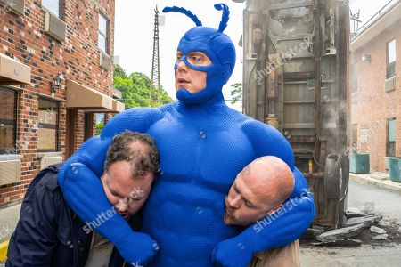 Stock Picture of Peter Serafinowicz as The Tick