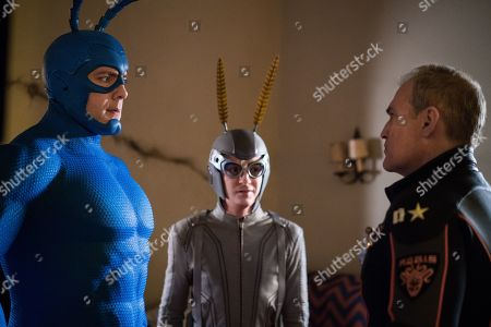 Stock Photo of Peter Serafinowicz as The Tick and Griffin Newman as Arthur Everest