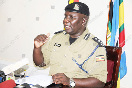 Police Spokesman Fred Enanga addressing a news Conference at the Police headquarters, braking silence on the abduction of American tourist Kim Endicott and Ugandan tour guide Jean Paul Mirenge. Kim Endicott and her Ugandan driver are both safe, after the five-day ordeal during which they were taken from Queen Elizabeth National Park across the border into Congo, according to Ugandan authorities