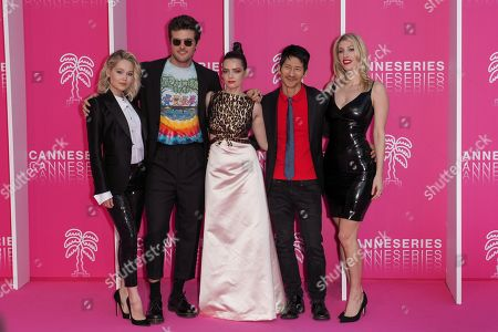 Kelli Berglund, Beau Mirchoff, Roxane Mesquida, Gregg Araki and Karley Sciortino, cast members of 'Now Apocalypse'