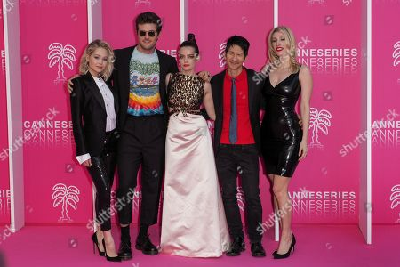 Kelli Berglund, Beau Mirchoff, Roxane Mesquida, Gregg Araki and Karley Sciortino, cast members of 'Now Apocalypse'