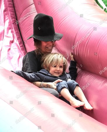 Stock Picture of Linda Perry and her son Rhodes