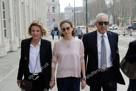 Mark Geragos, Clare Bronfman. Clare Bronfman, center, a member of NXIVM, an organization charged with sex trafficking, arrives at Brooklyn Federal Court with her lawyer Mark Geragos, in New York. Jury selection is set to begin Monday for the trial, expected to detail sensational allegations that a cult-like group based in upstate New York recruited sex slaves for its spiritual leader