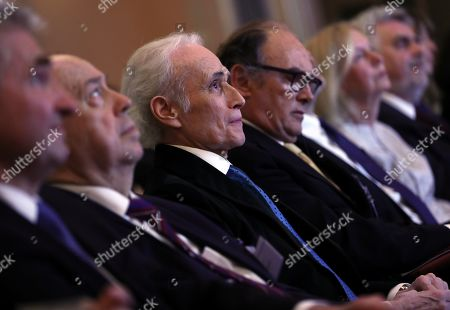 Spanish tenor Jose Carreras (C) attends the gala event of the German Science where he was awarded with the 'Science foundation of the Year 2019' for the German affiliate of the 'Jose Carreras International Leukemia Foundation', in Berlin, Germany, 08 April 2019. Carreras established the 'José Carreras International Leukaemia Foundation' in 1988, as an institution that supports the research and treatment of leukemia in different fields. Carreras also performs regularly in charity concerts in aid of his foundation and other medical related charities.