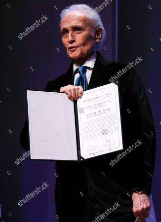 Spanish tenor Jose Carreras receives the award 'Science foundation of the Year 2019' for the German affiliate of the 'Jose Carreras International Leukemia Foundation' during the gala event of the German Science, in Berlin, Germany, 08 April 2019. Carreras established the 'José Carreras International Leukaemia Foundation' in 1988, as an institution that supports the research and treatment of leukemia in different fields. Carreras also performs regularly in charity concerts in aid of his foundation and other medical related charities.