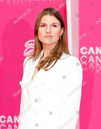 Stock Photo of Cast member of 'The Outbreak', Russian actress Maryana Spivak poses on the pink carpet during the Cannes Series Festival in Cannes, 07 April 2019. The event will take place from 05 to 10 April.
