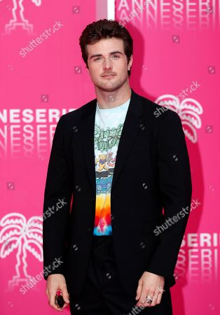 Cast member of 'Now Apocalypse', US actor Beau Mirchoff poses on the pink carpet during the Cannes Series Festival in Cannes, 08 April 2019. The event will take place from 05 to 10 April.
