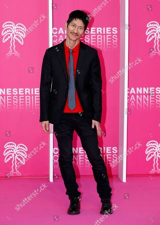 Cast member of 'Now Apocalypse', US producer Gregg Araki poses on the pink carpet during the Cannes Series Festival in Cannes, 08 April 2019. The event will take place from 05 to 10 April.