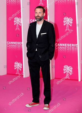 Baran Bo Odar, jury President of the Cannes Series, poses on the pink carpet during the Cannes Series Festival in Cannes, 08 April 2019. The event will take place from 05 to 10 April.