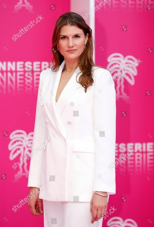 Cast member of 'The Outbreak', Russian actress Maryana Spivak poses on the pink carpet during the Cannes Series Festival in Cannes, 07 April 2019. The event will take place from 05 to 10 April.