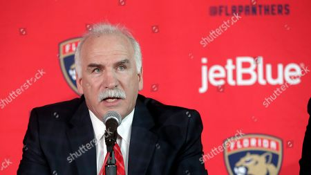 Joel Quenneville is introduced as the Florida Panthers new head coach during a news conference, in Sunrise, Fla