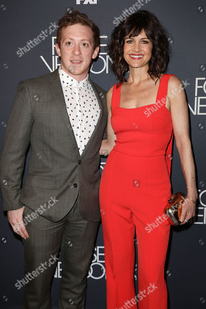 Ethan Slater and Carla Gugino