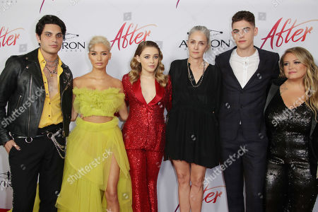 Stock Picture of Samuel Larsen, Pia Mia Perez, Josephine Langford, Jenny Gage, Hero Fiennes-Tiffin and Anna Todd