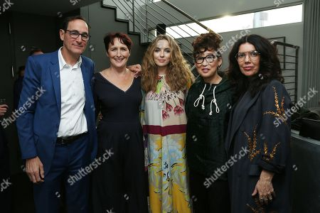 Josh Sapan, Fiona Shaw, Jodie Comer, Sandra Oh and Sarah Barnett