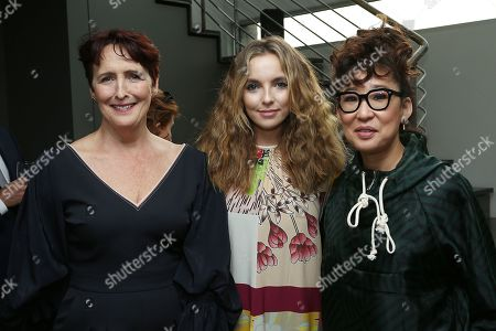 Fiona Shaw, Jodie Comer and Sandra Oh