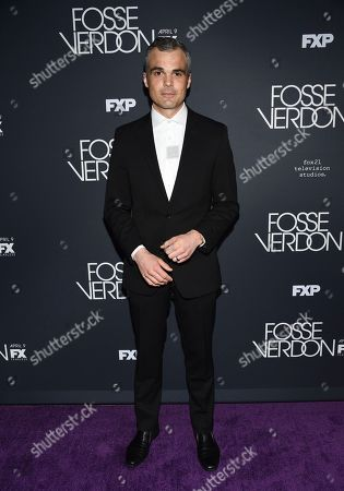 "Stephen Plunkett attends the premiere screening of FX's ""Fosse/Verdon"" at the Gerald Schoenfeld Theatre, in New York"