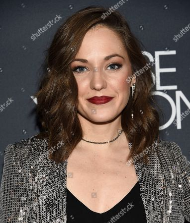 "Laura Osnes attends the premiere screening of FX's ""Fosse/Verdon"" at the Gerald Schoenfeld Theatre, in New York"