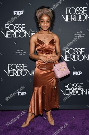 "Rachel Hilson attends the premiere screening of FX's ""Fosse/Verdon"" at the Gerald Schoenfeld Theatre, in New York"