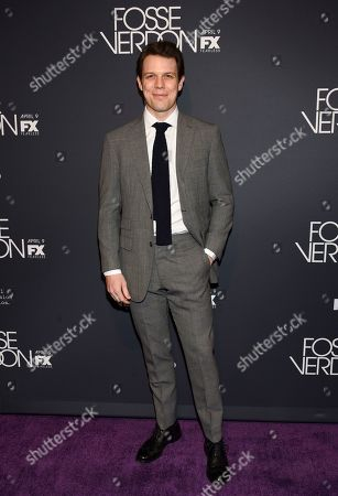"""Stock Image of Jake Lacy attends the premiere screening of FX's """"Fosse/Verdon"""" at the Gerald Schoenfeld Theatre, in New York"""