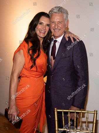 Brooke Shields, David Kratz. Brooke Shields, left, and David Kratz, right, attend the Tribeca Ball at the New York Academy of Art, in New York