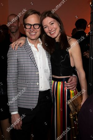Stock Photo of Will Cotton, Rose Dergan. Will Cotton, left, and Rose Dergan, right, attend the Tribeca Ball at the New York Academy of Art, in New York