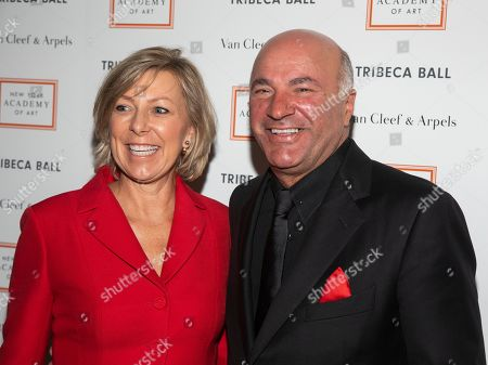 Linda O'Leary, Kevin O'Leary. Linda O'Leary, left, and Kevin O'Leary, right, attend the Tribeca Ball at the New York Academy of Art, in New York