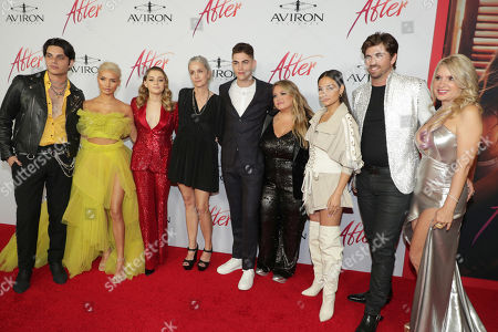 Samuel Larsen, Pia Mia Perez, Josephine Langford, Jenny Gage, Director, Hero Fiennes-Tiffin, Anna Todd, Author, Inanna Sarkis, Swen Temmel, Meadow Williams