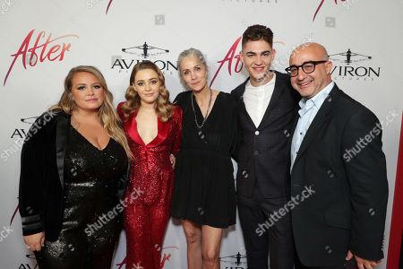 Anna Todd, Author, Josephine Langford, Jenny Gage, Director, Hero Fiennes-Tiffin, David Dinerstein, President, Aviron Pictures,