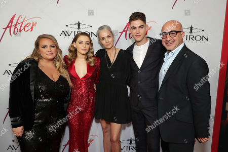 Stock Photo of Anna Todd, Author, Josephine Langford, Jenny Gage, Director, Hero Fiennes-Tiffin, David Dinerstein, President, Aviron Pictures,