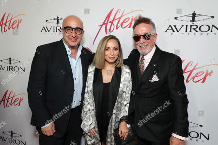 Stock Picture of David Dinerstein, President, Aviron Pictures, Dorothy Canton, Mark Canton, Producer,