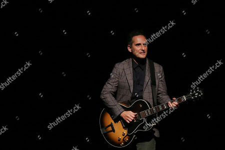 Jorge Drexler performs during his 'Silente' tour at the Nescafe de las Artes Theater in Santiago, Chile, 08 April 2019.