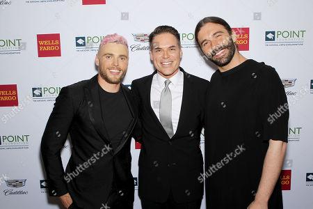 Gus Kenworthy (Olympian), Jorge Valencia (CEO Point Foundation), Jonathan Van Ness (Queer Eye)