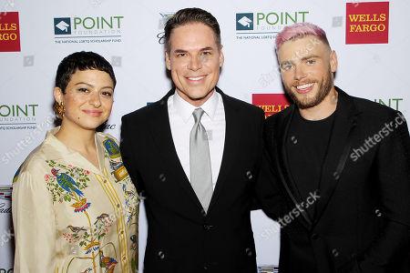 Alia Shawkat, Jorge Valencia (CEO Point Foundation), Gus Kenworthy (Olympian)