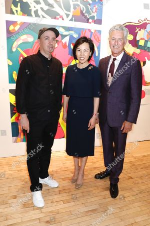 KAWS, artist and honoree of the night, Helen King, Van Cleef CEO/Chair and David Kratz, President of the New York Academy of Art